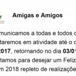 COMUNICADO DE FIM DE ANO